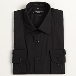 Jean Paul Germain Men's Black Convertible Cuff Dress Shirt