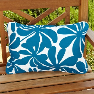 Penelope Blue/ White Floral Outdoor Pillows (Set of 2)