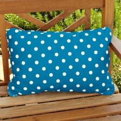 Penelope Blue/ White Dots Outdoor Pillows (Set of 2)