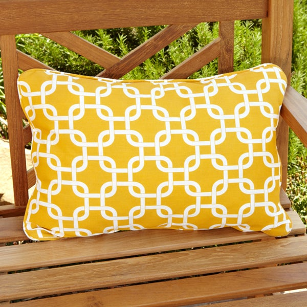 Penelope Yellow Indoor/ Outdoor Pillows (Set of 2)