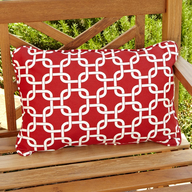 Penelope Red Indoor/ Outdoor Pillows (Set of 2)