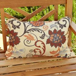 Clara Beige/ Grey Indoor/ Outdoor Sunbrella Accent Pillows (Set of 2)