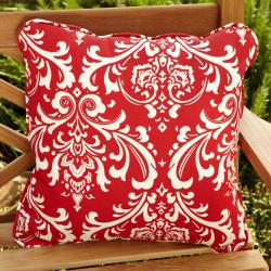 Penelope Red 22-inch Square Outdoor Pillow (Set of 2)