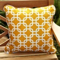 Penelope Yellow 22-inch Square Indoor/ Outdoor Pillow (Set of 2)