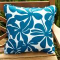Penelope Blue/ White Floral 18-inch Square Outdoor Pillows (Set of 2)