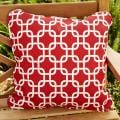 Penelope Red 18-inch Square Outd