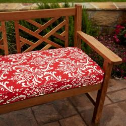 Penelope Red 48-inch Outdoor Bench Cushion