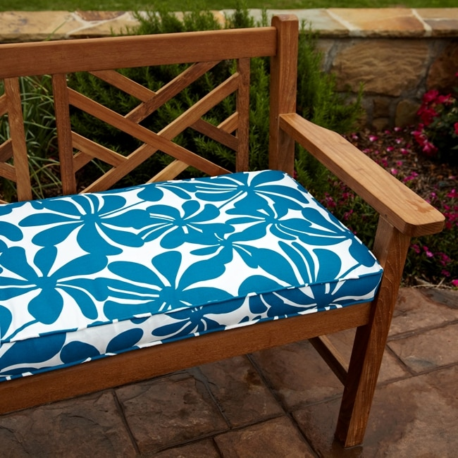 Penelope Blue 48-inch Outdoor Bench Cushion