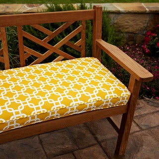 Penelope Yellow 60-inch Outdoor Bench Cushion