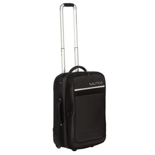 Nautica Harbour Black/ Silver 21-inch Rolling Expandable Carry-on Upright