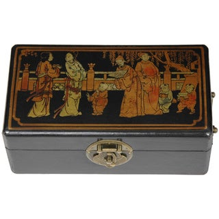 Hand-painted Elm Ming Keepsake Box (China)