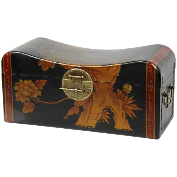 Hand-painted Large Elm Pillow Box (China)