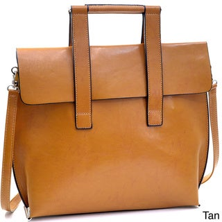 Dasein Professional Briefcase Style Faux Leather Satchel Bag