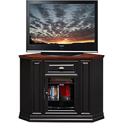 Black/Cherry 46-inch Corner TV Stand & Media Console