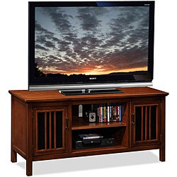 Amber/Black Glass 50-inch TV Stand & Media Console