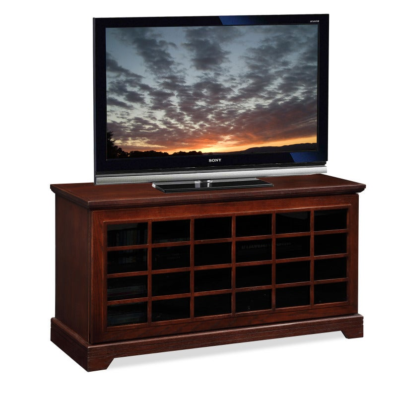 Two-way Sliding Grid Door 50-inch TV Stand & Media Console