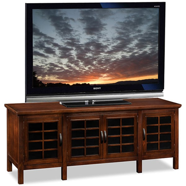 Chocolate Black Glass 60 Inch TV Stand And Media Console