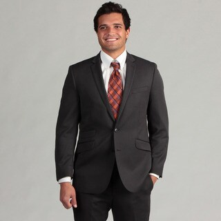 Ben Sherman Men's Dark Charcoal Striped Wool Slim Fit Suit FINAL SALE