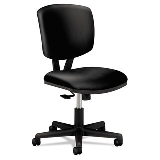 HON Volt Series Black Leather Task Chair with Synchro-Tilt