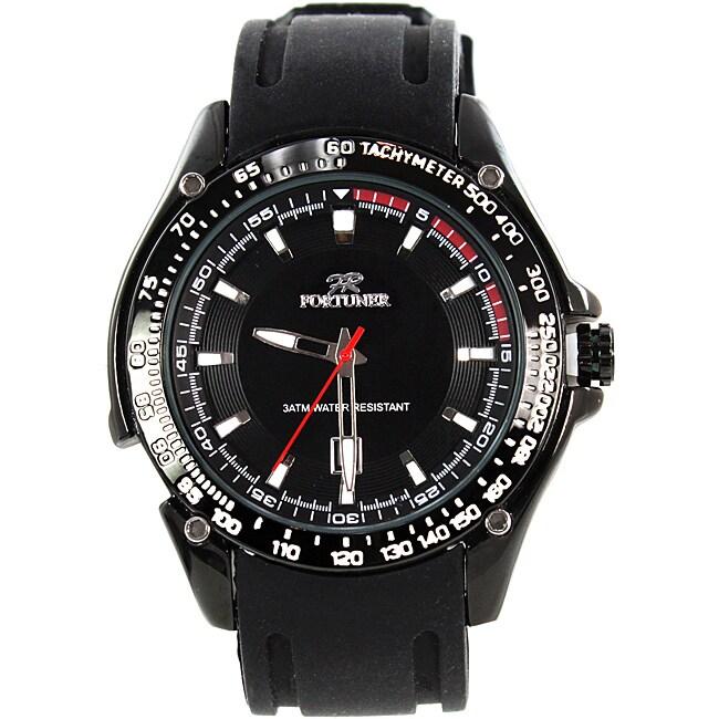 Fortuner Men's 'Grand Duke' Silicone Strap Watch