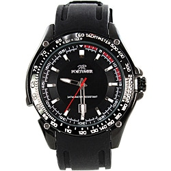 Fortuner Men's 'Grand Duke' Silicone Strap Watch