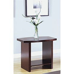 Contemporary Cappuccino Veneer End Table