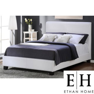 ETHAN HOME Castilian White Upholstery Queen-size Bed
