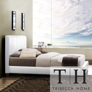 TRIBECCA HOME Castilian White Upholstery Queen-size Bed