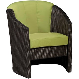 Riviera Green Apple Barrel Accent Chair