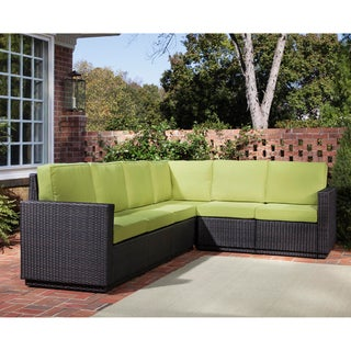 Riviera Green Apple Six Seat Sectional