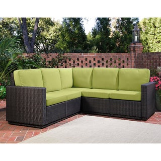 Riviera Green Apple Five Seat Sectional