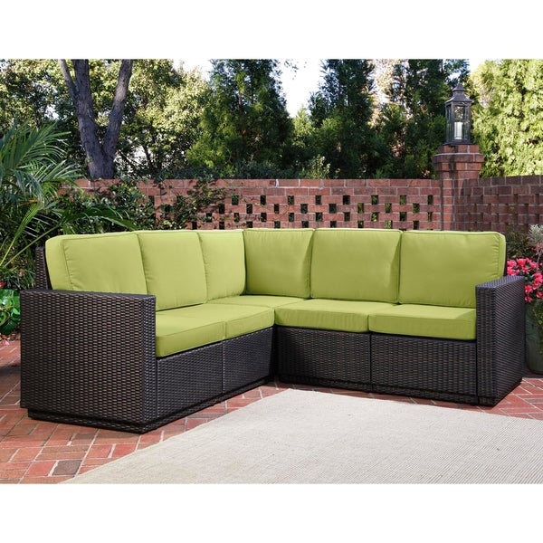 Home Styles Riviera Green Apple Five Seat Sectional