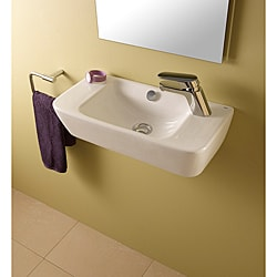 Bissonnet Emma White Bathroom Ceramic Sink