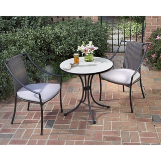 Fishtail 3-piece Tile Top Bistro Set