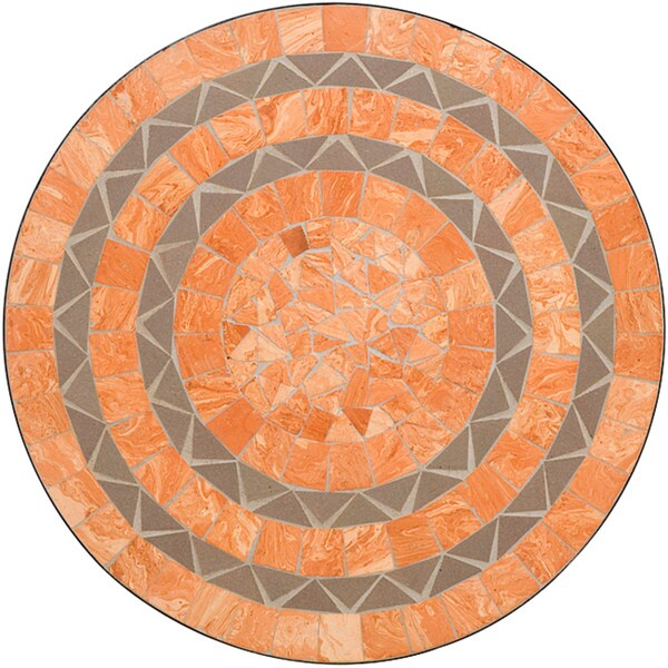 Home Styles Terra Cotta Sandstone Tile Top Bistro Table
