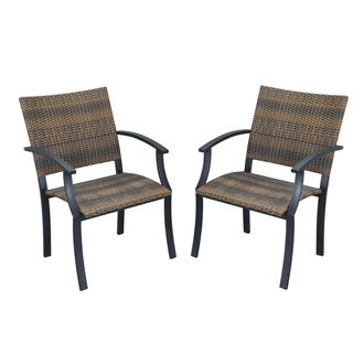 Newport Synthetic-weave Arm Chairs (Set of 2)