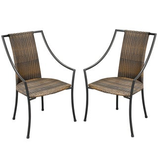 Laguna Synthetic-weave Arm Chairs (Set of 2)