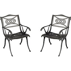 Malibu Black Dining Chairs (Set of 2)
