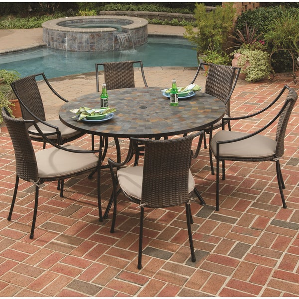 Home Styles Stone Harbor Table And Laguna Arm Chair 7 Piece Dining Set