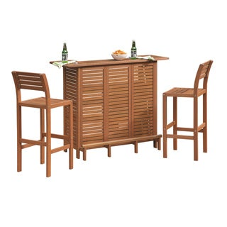 Montego Bay 3-piece Bar and Two Stools Set