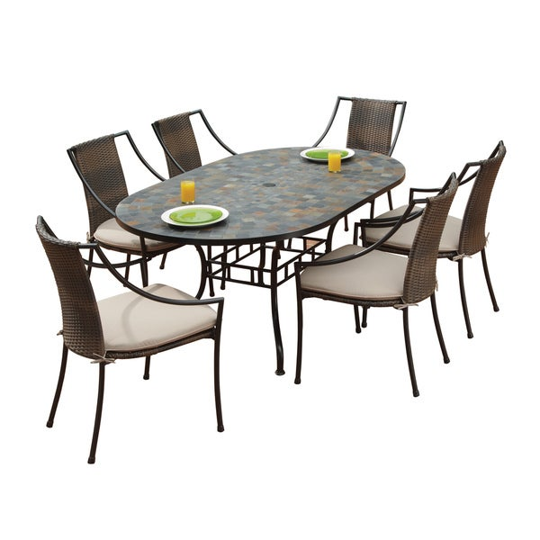 Home Styles Stone Harbor Table and Laguna Arm Chairs 7-piece Dining Set