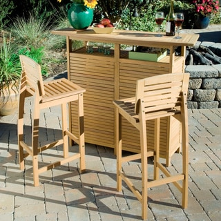 Bali Hai Natural Teak 3-piece Bar Set