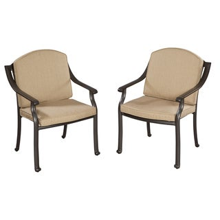 Home Styles Covington Cushioned Arm Chairs (Set of 2)