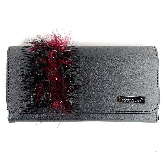 Nicole Lee 'Virginia' Black Feather Clutch