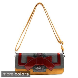 Nicole Lee Eliza Bow and Python Handbag