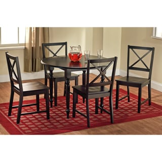 Black Drop Leaf 5-piece Dining Set