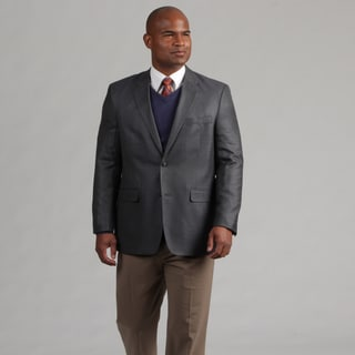 Adolfo Men's Blue/Grey Wool Sports Coat