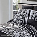 Laken Zebra 8-piece Flock Comforter Set