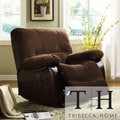 TRIBECCA HOME Wishaw Polished Microfiber Recliner Chair