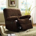 ETHAN HOME Wishaw Polished Microfiber Recliner Chair
